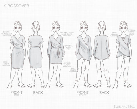 Crossover Sweater and Dress Trendy sewing project