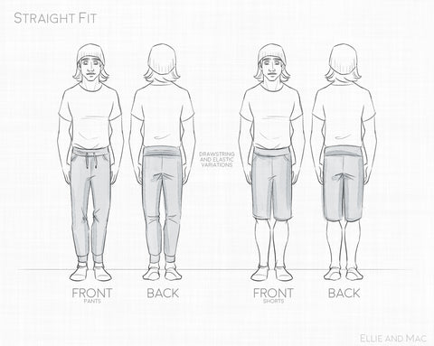 Straight Fit Jogger Sewing Pattern