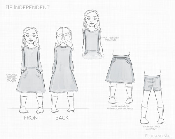 Be Independent Sewing Pattern By Ellie and Mac Sewing Patterns