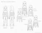 Be The Leader Line Drawing PDF Sewing Pattern for Ellie and Mac Sewing Patterns