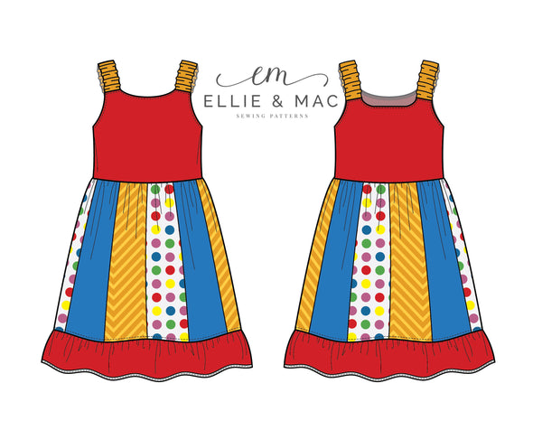 Ava Tank Dress Sewing Pattern by Ellie and Mac Sewing Patterns