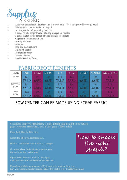 Be Posh Fabric Chart