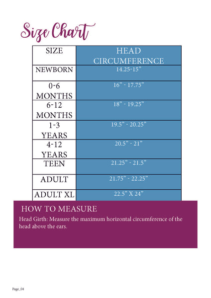 Be Posh Size Chart