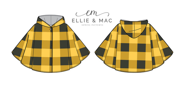 Nightfall Cape Sewing Pattern By Ellie and Mac Sewing Patterns