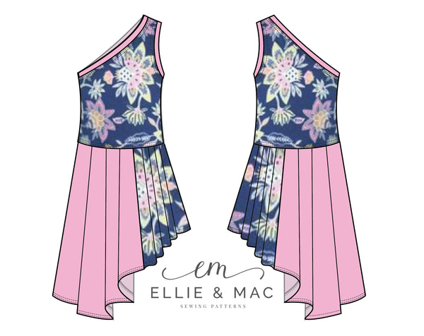 Island Getaway Dress Sewing Pattern by Ellie and Mac Sewing Patterns
