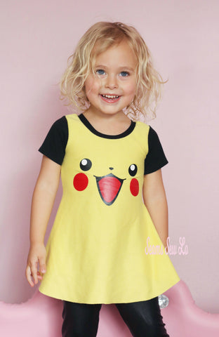 Pikachu Dress Sewing Pattern