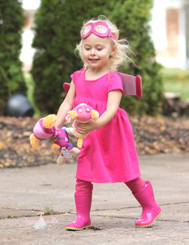 Sky Paw Patrol Dress Costume Using Ellie and Mac Sewing Patterns