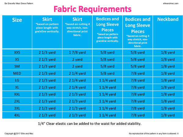 Be Graceful Fabric Requirement