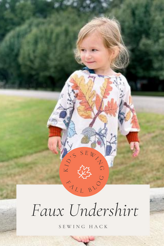 How to Create a Sewn-in Faux Undershirt for Kids