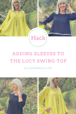 How to Add Sleeves to the Lucy Swing Top Sewing Pattern