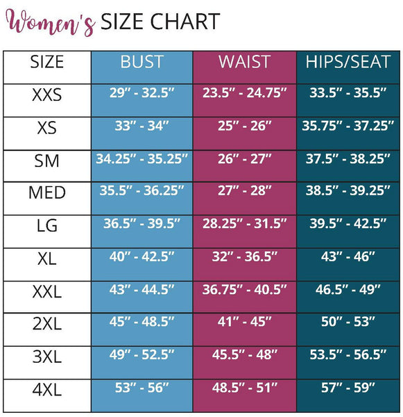 Ellie and Mac Sewing Pattern Size Chart