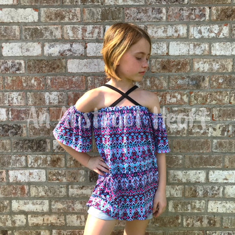 Summer Love Top Sewing Pattern by Ellie and Mac Patterns