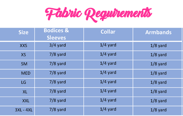 Sitting Pretty Fabric Chart