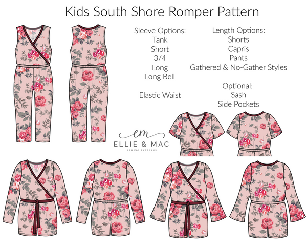 South Shore Kids Romper Sewing Patterns