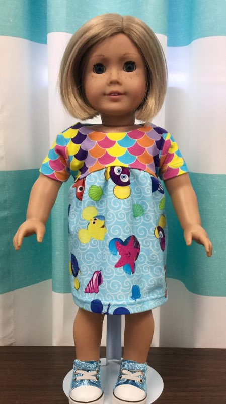 I Love The 90's Doll Dress Pattern