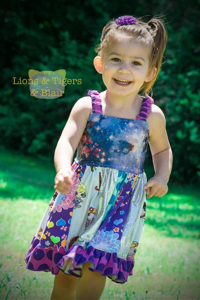 Girls Ava Tank Dress Pattern - Ellie and Mac, Digital (PDF) Sewing Patterns | USA, Canada, UK, Australia