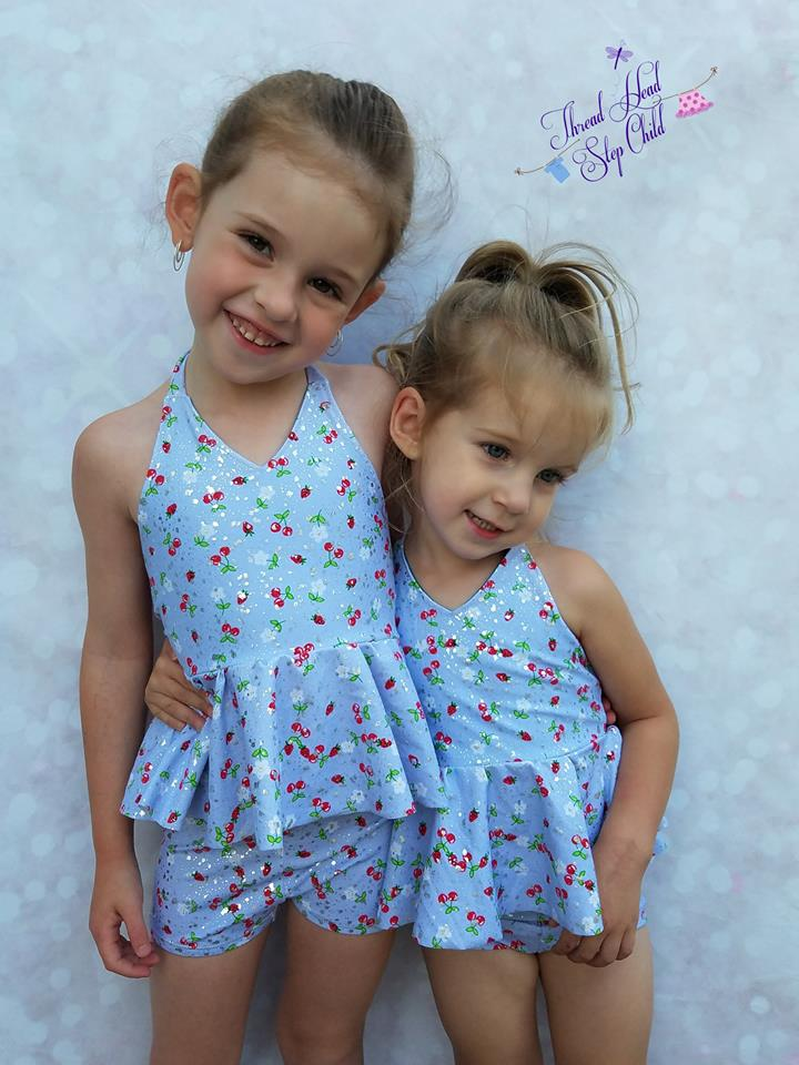 Girl's Be Brilliant Swimsuit Pattern - Ellie and Mac, Digital (PDF) Sewing Patterns | USA, Canada, UK, Australia