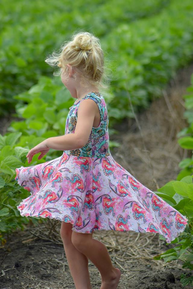 Girl's Be Confident Tunic Pattern - Ellie and Mac, Digital (PDF) Sewing Patterns | USA, Canada, UK, Australia