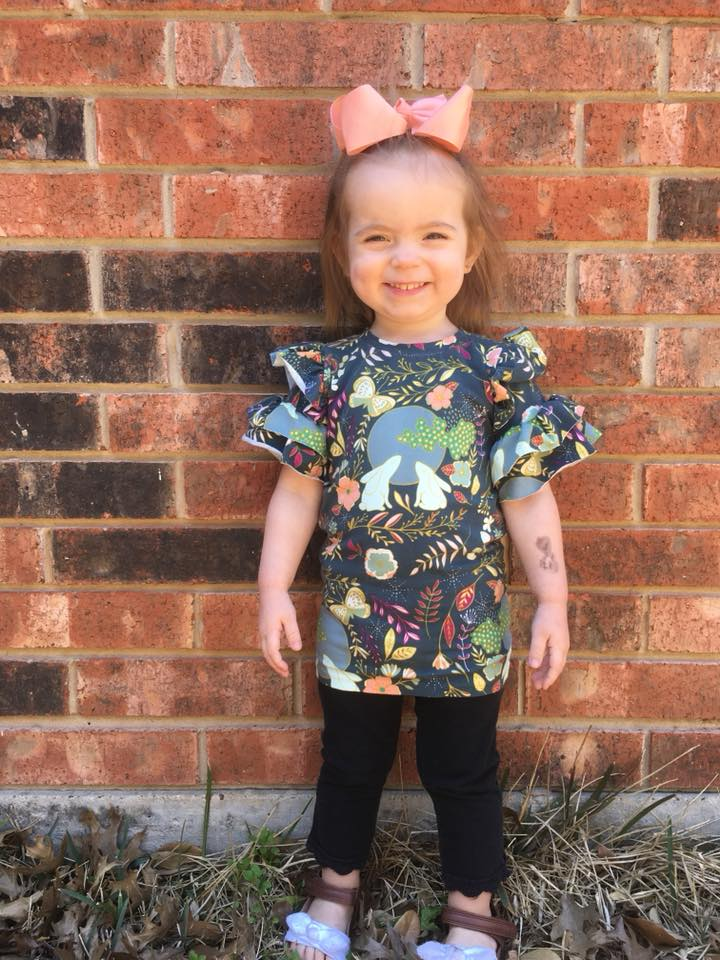 Girl's Be Determined Top, Tunic & Dress Pattern - Ellie and Mac, Digital (PDF) Sewing Patterns | USA, Canada, UK, Australia