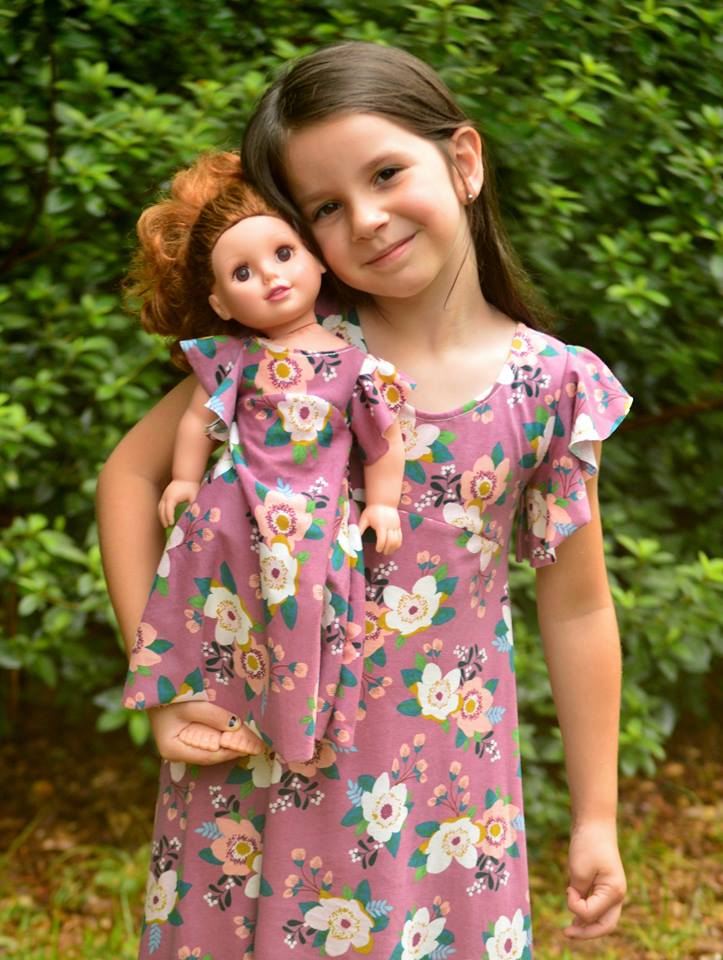 Girl's & Doll Be Dreamy Dress Pattern Bundle Pack - Ellie and Mac, Digital (PDF) Sewing Patterns | USA, Canada, UK, Australia