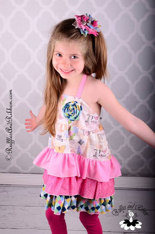 Girl's Be Girly Halter Pattern - Ellie and Mac, Digital (PDF) Sewing Patterns | USA, Canada, UK, Australia