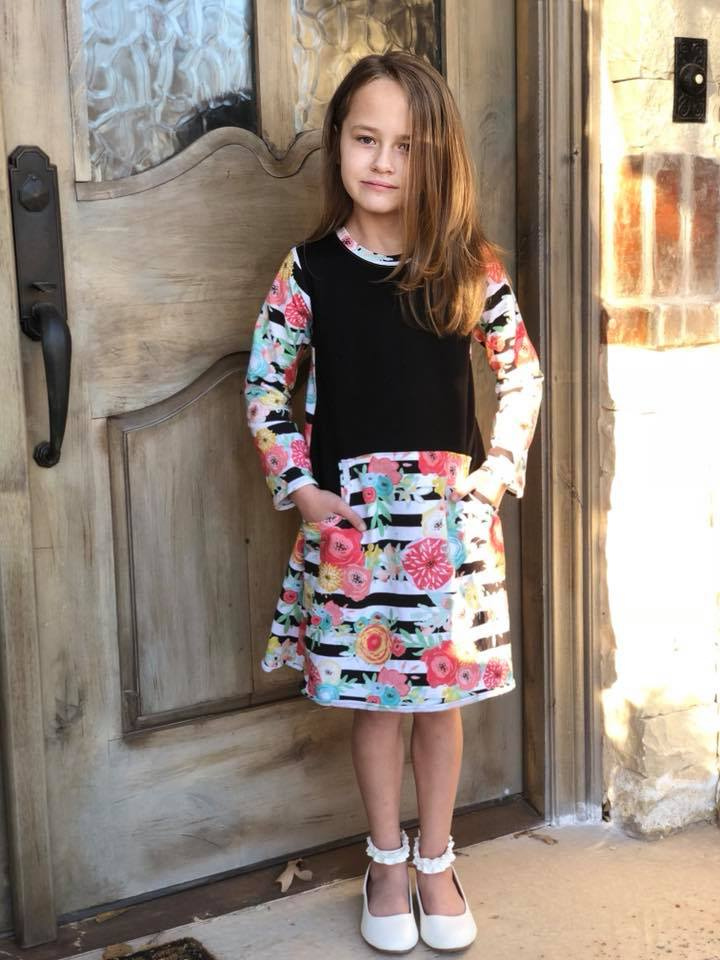 Girl's Be Independent Dress, Skirt & Shorties Pattern - Ellie and Mac, Digital (PDF) Sewing Patterns | USA, Canada, UK, Australia