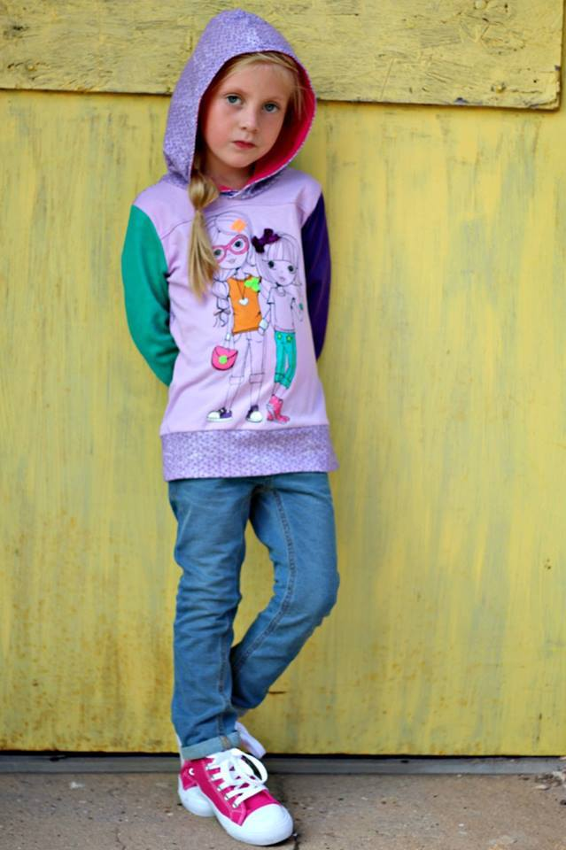 The Be Rad Hoodie Pattern Wacky - Ellie and Mac, Digital (PDF) Sewing Patterns | USA, Canada, UK, Australia