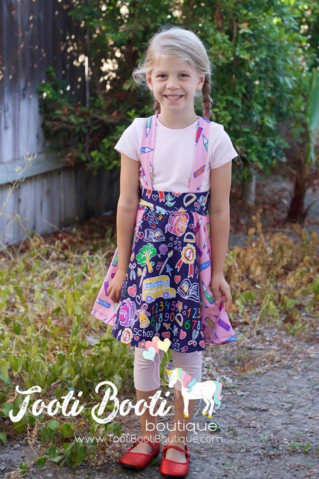 Girl's Be Smart Jumper Pattern - Ellie and Mac, Digital (PDF) Sewing Patterns | USA, Canada, UK, Australia