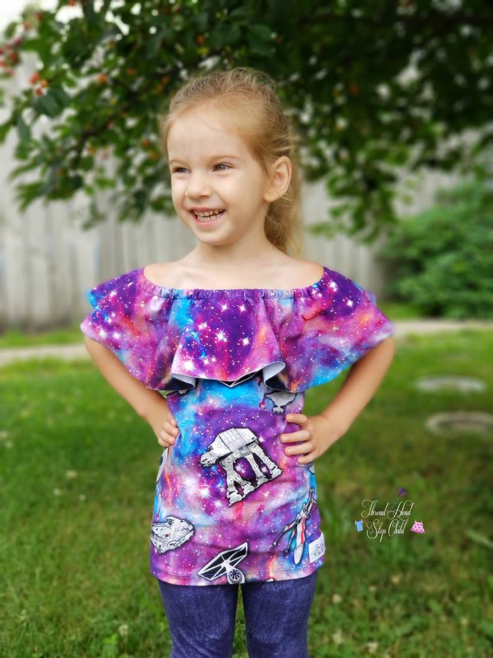 Girl's Be The Leader Top & Romper Pattern - Ellie and Mac, Digital (PDF) Sewing Patterns | USA, Canada, UK, Australia