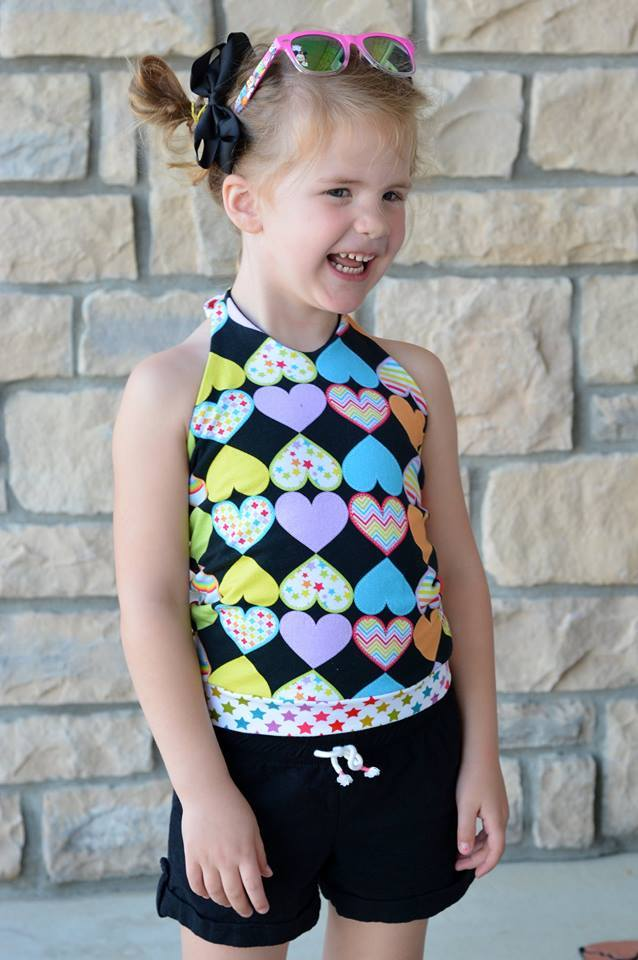 Girl's Be Trendy Halter Top Pattern