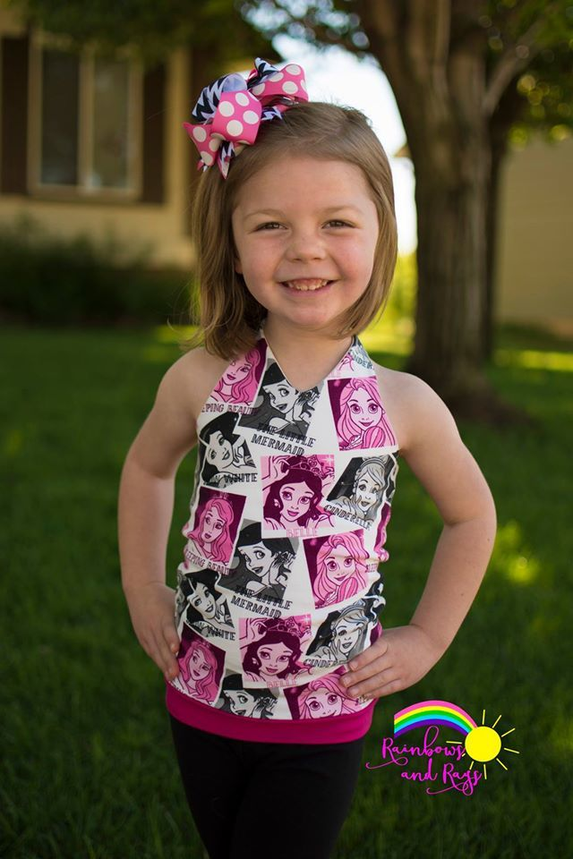 Girl's Be Trendy Halter Top Pattern - Ellie and Mac, Digital (PDF) Sewing Patterns | USA, Canada, UK, Australia