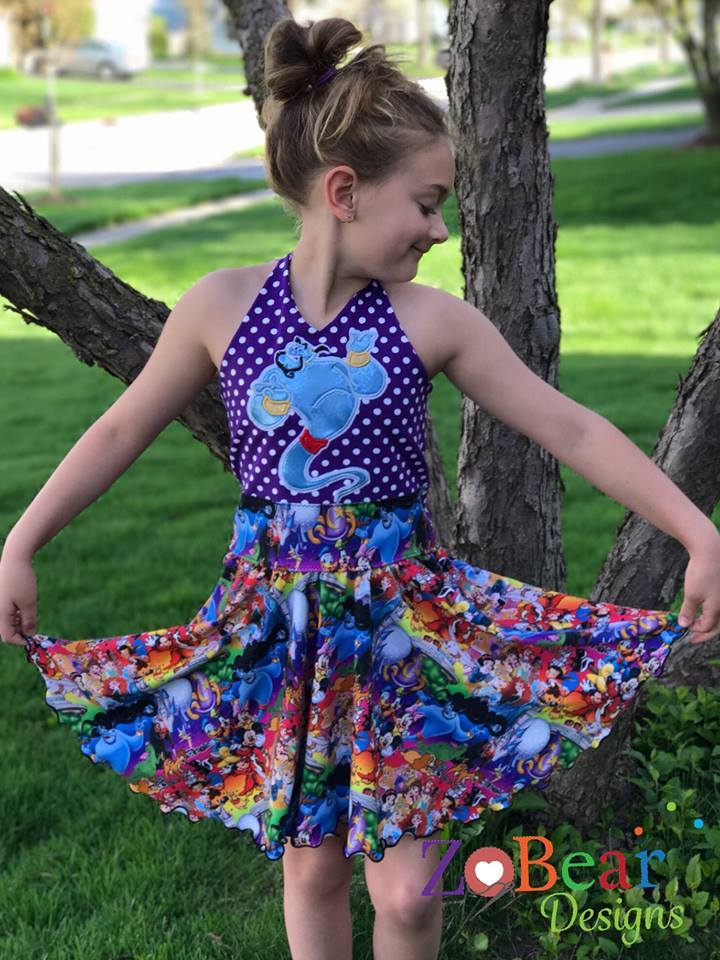 Girl's Be Unstoppable Dress Pattern