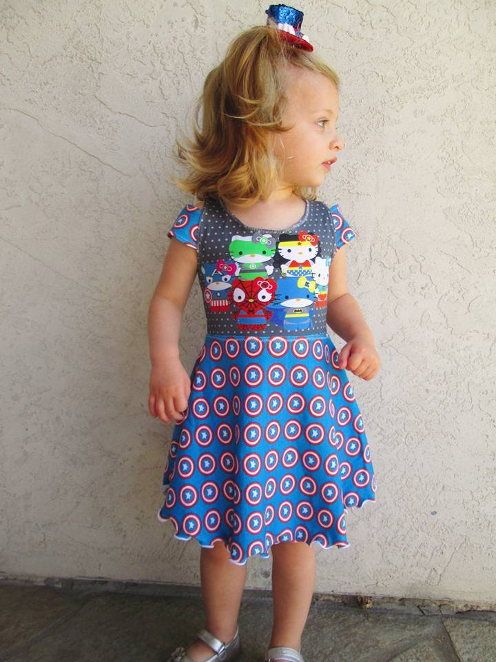 Girls Breezy Shoulder Dress Pattern - Ellie and Mac, Digital (PDF) Sewing Patterns | USA, Canada, UK, Australia