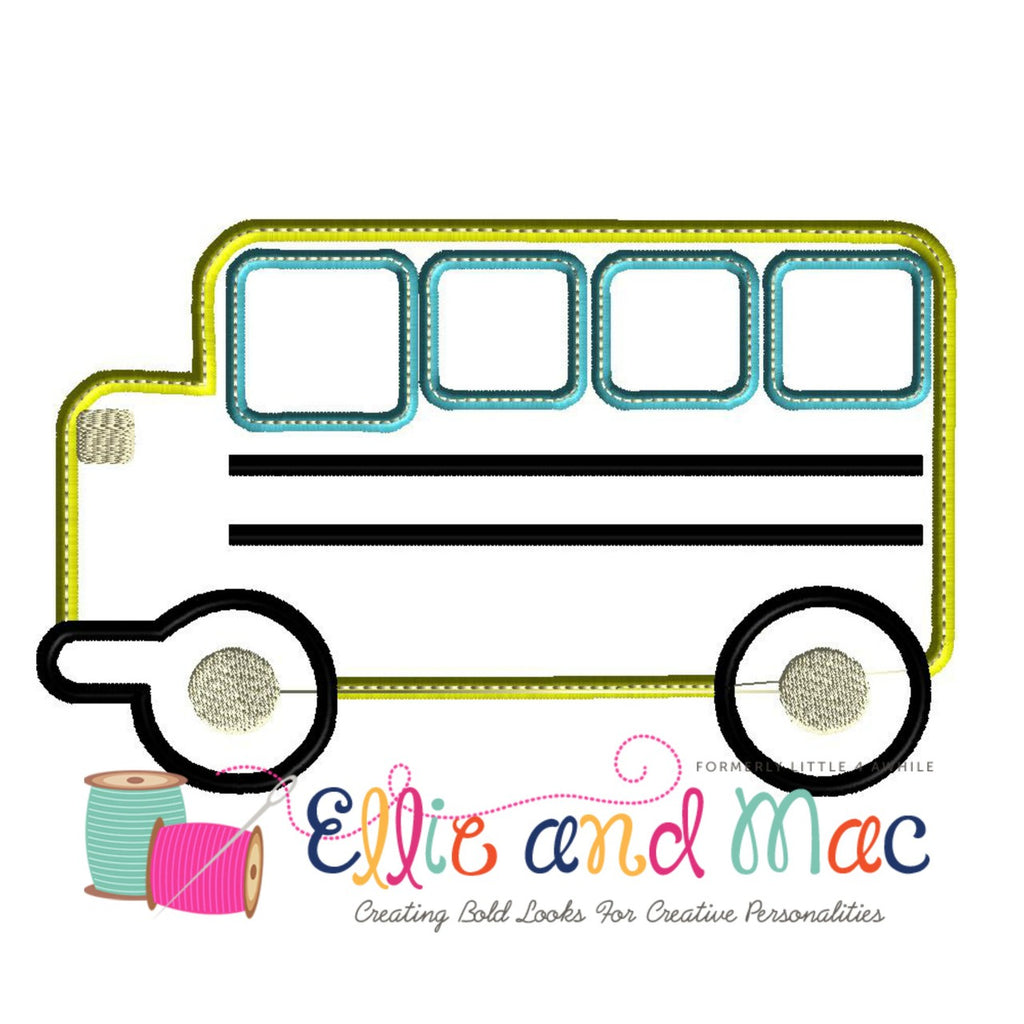 School Bus Applique Design - Ellie and Mac, Digital (PDF) Sewing Patterns | USA, Canada, UK, Australia