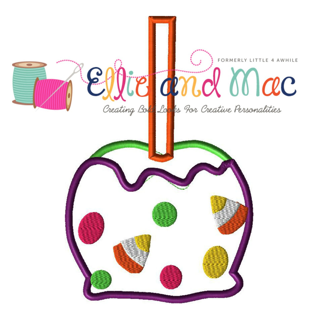 Halloween Candy Apple Applique Embroidery Design