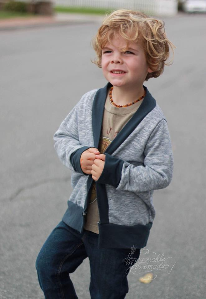 Chapman Cardigan Unisex Pattern - Ellie and Mac, Digital (PDF) Sewing Patterns | USA, Canada, UK, Australia