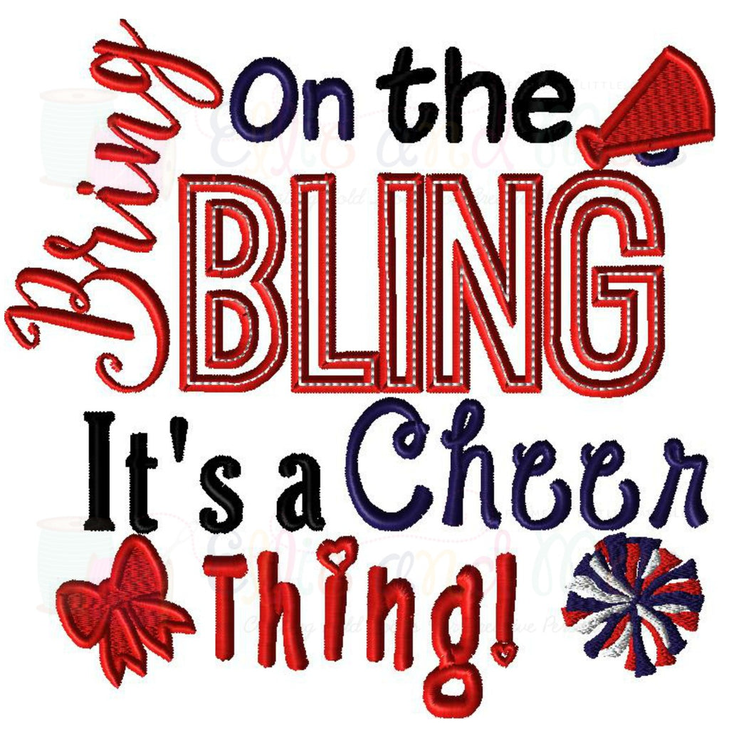 Cheer Thing Saying Applique Design