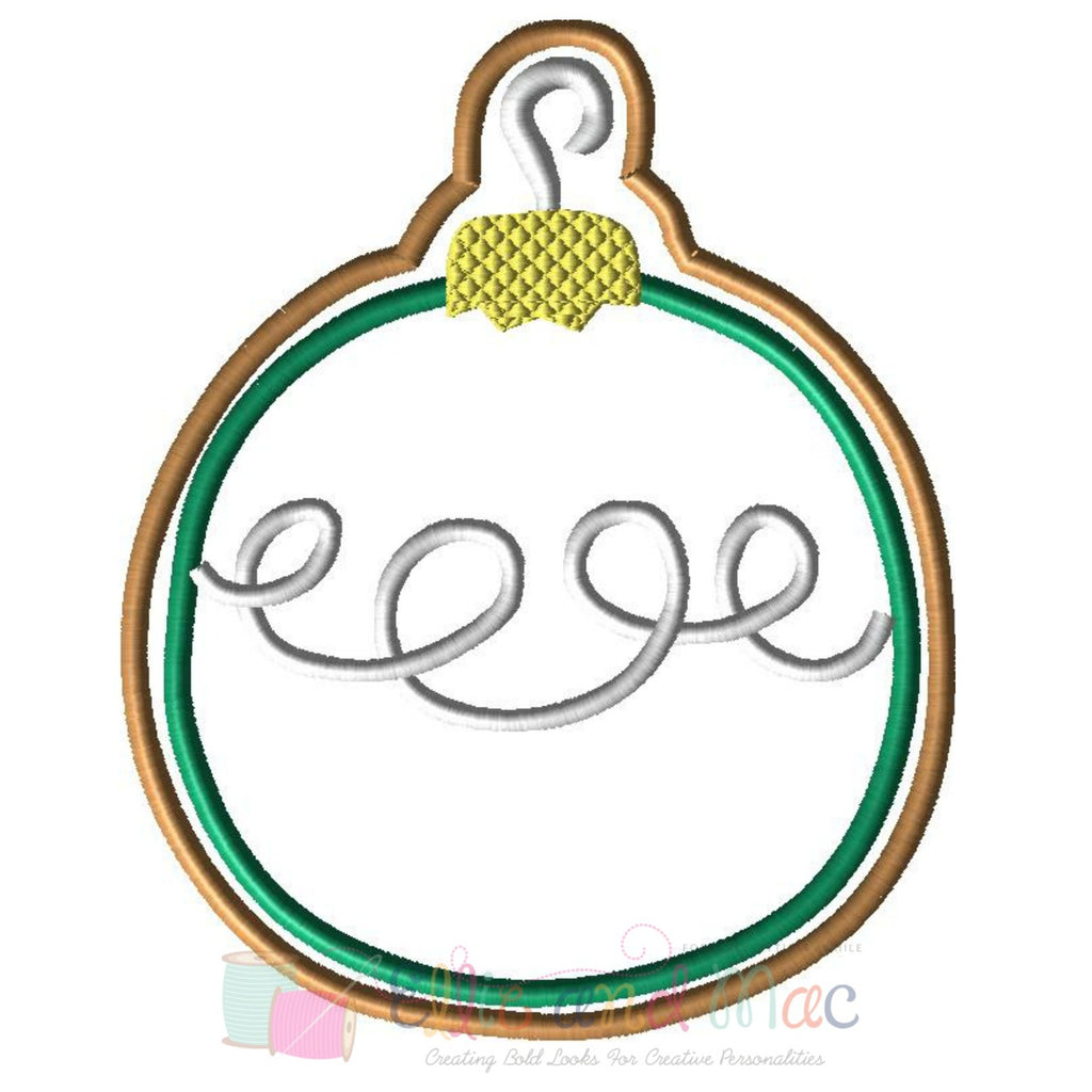 Christmas Ornament Cookie Applique Design