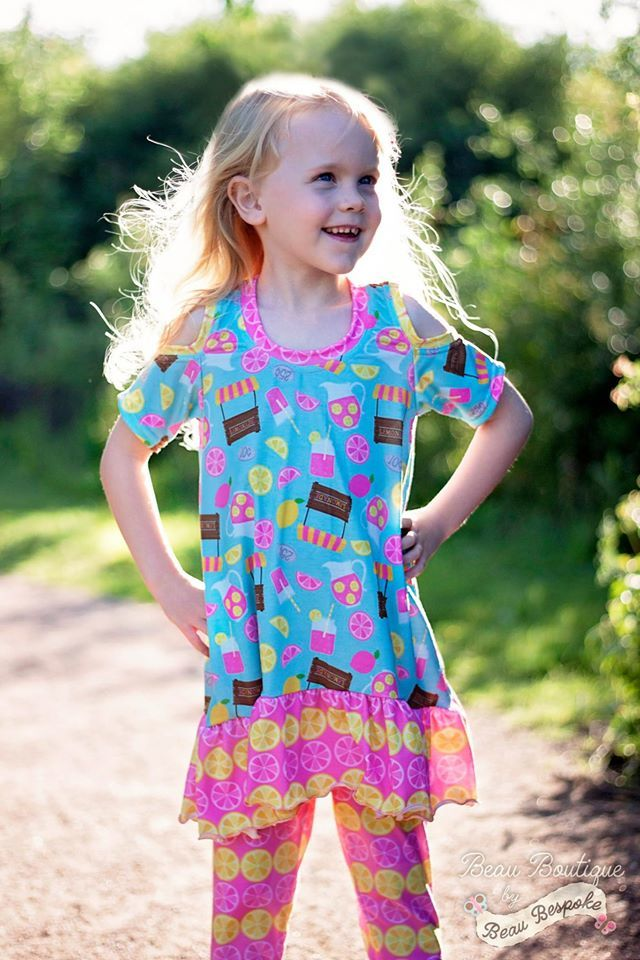 Girl's Cold Shoulder Tunic Pattern - Ellie and Mac, Digital (PDF) Sewing Patterns | USA, Canada, UK, Australia