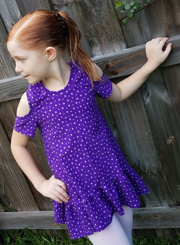 Girl's Cold Shoulder Tunic Pattern