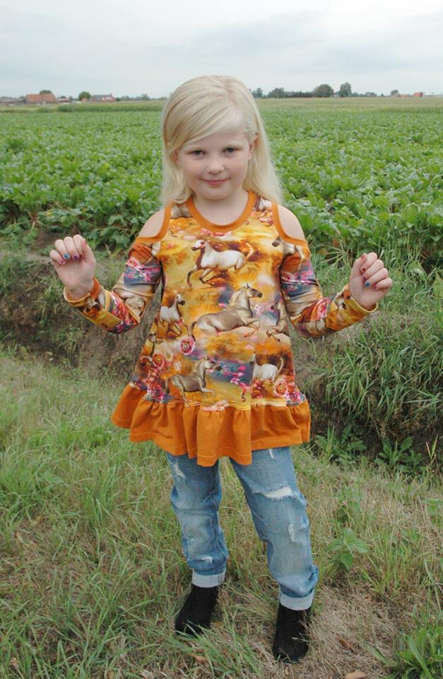 Cold Shoulder Tunic Pattern (kid's)