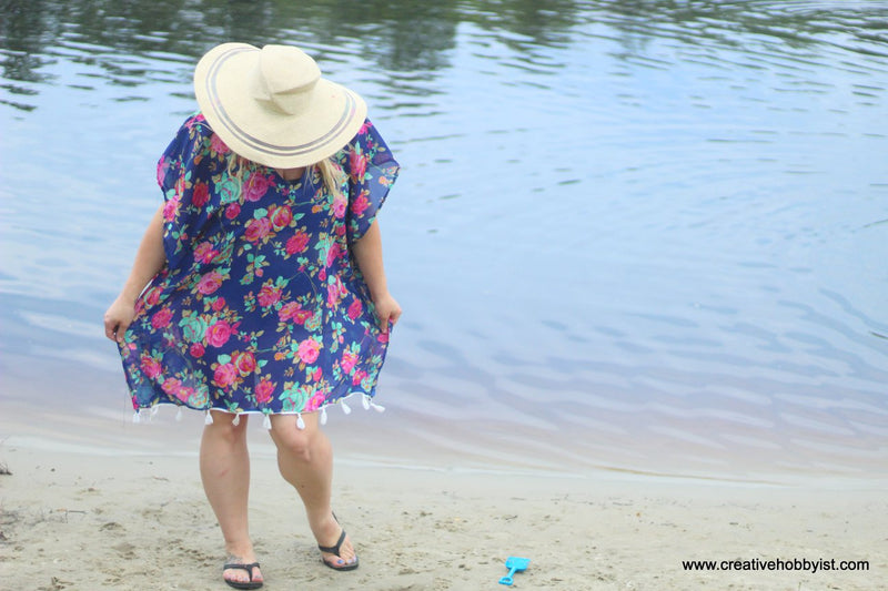 Women's Beach Cover Up Pattern - Ellie and Mac, Digital (PDF) Sewing Patterns | USA, Canada, UK, Australia