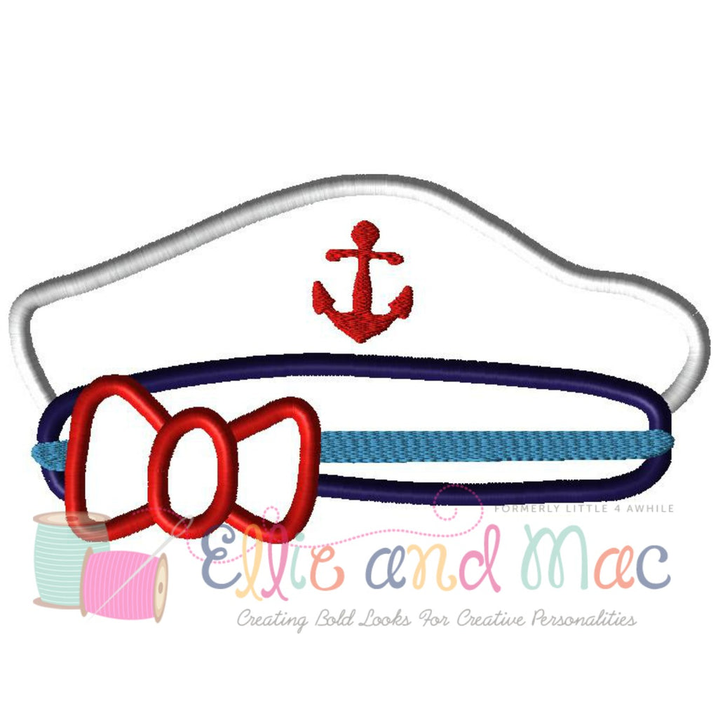 Cruise Hat Applique Embroidery Design - Ellie and Mac, Digital (PDF) Sewing Patterns | USA, Canada, UK, Australia