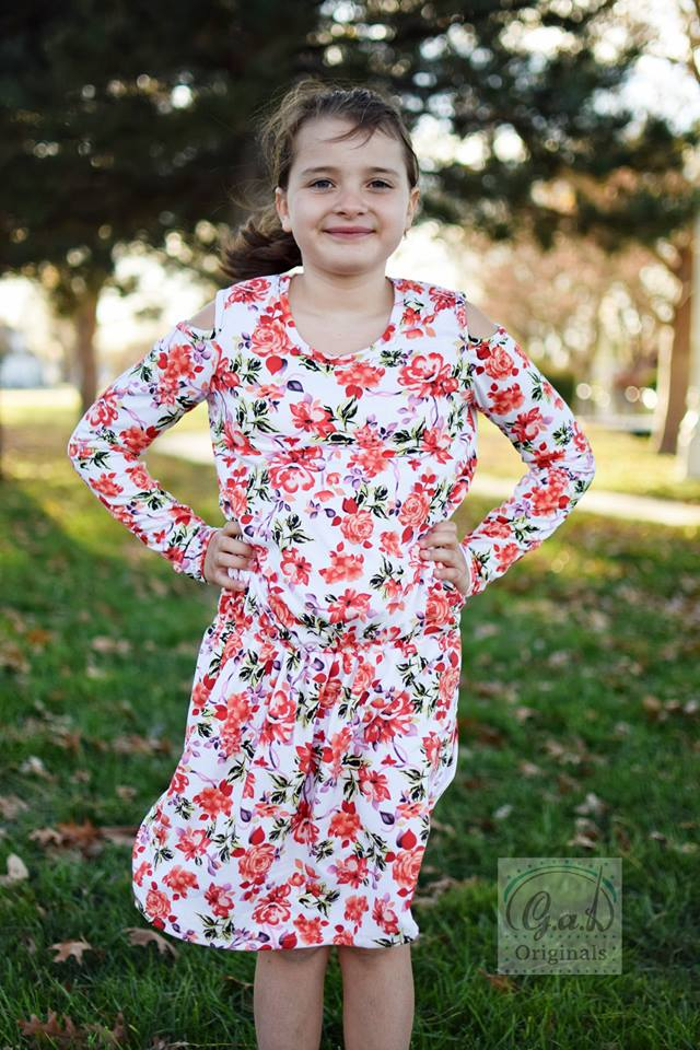 Kids Cold Shoulder Jumper Pattern