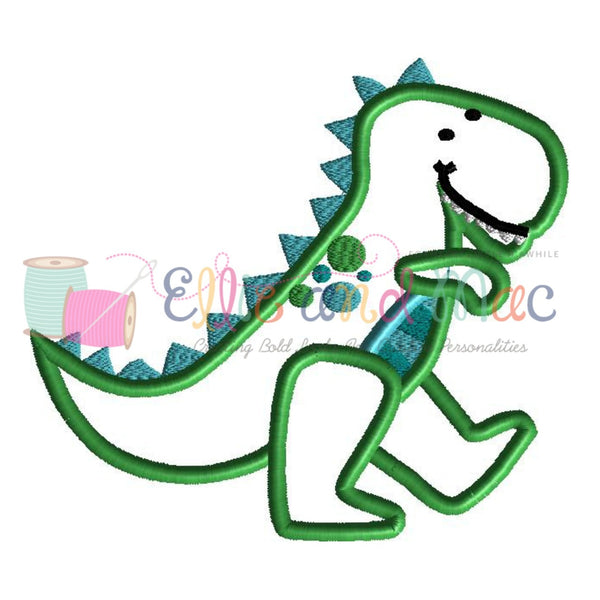 Dinosaur Applique Design - Ellie and Mac, Digital (PDF) Sewing Patterns | USA, Canada, UK, Australia