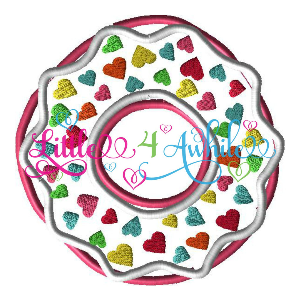 Yummy Donut Sweets Applique Embroidery Design - Ellie and Mac, Digital (PDF) Sewing Patterns | USA, Canada, UK, Australia