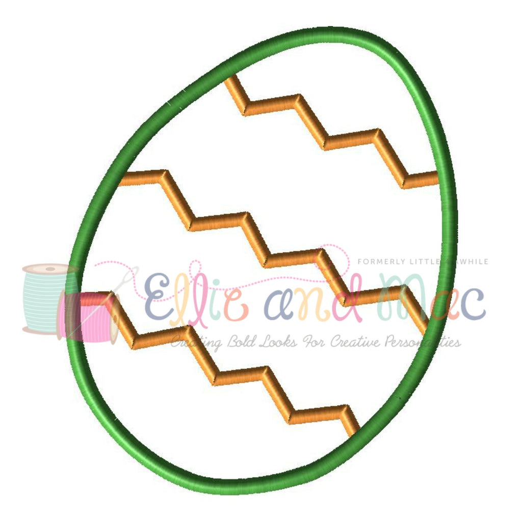 Easter Egg Applique Design - Ellie and Mac, Digital (PDF) Sewing Patterns | USA, Canada, UK, Australia