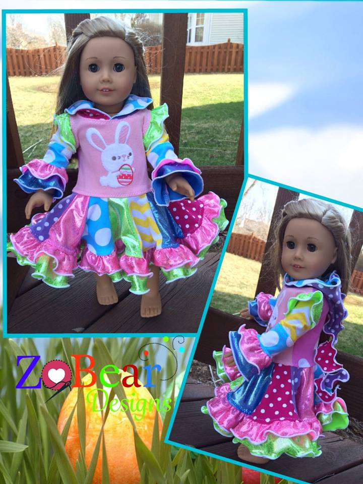 Ellie Doll Dress Pattern - Ellie and Mac, Digital (PDF) Sewing Patterns | USA, Canada, UK, Australia