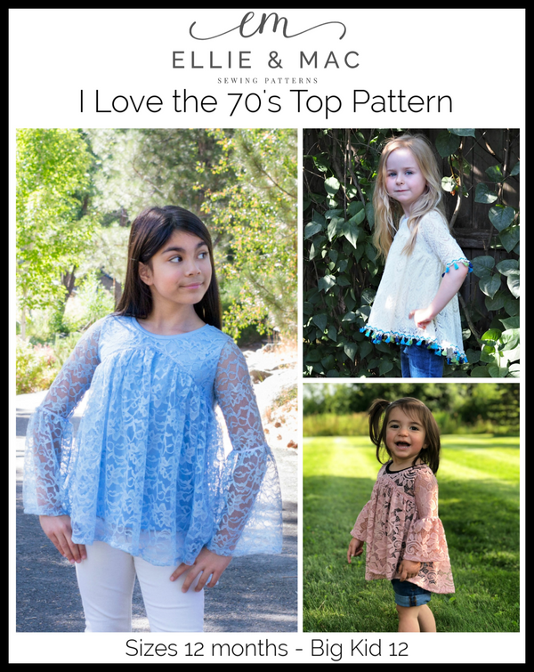 Kids I Love the 70's Top Pattern