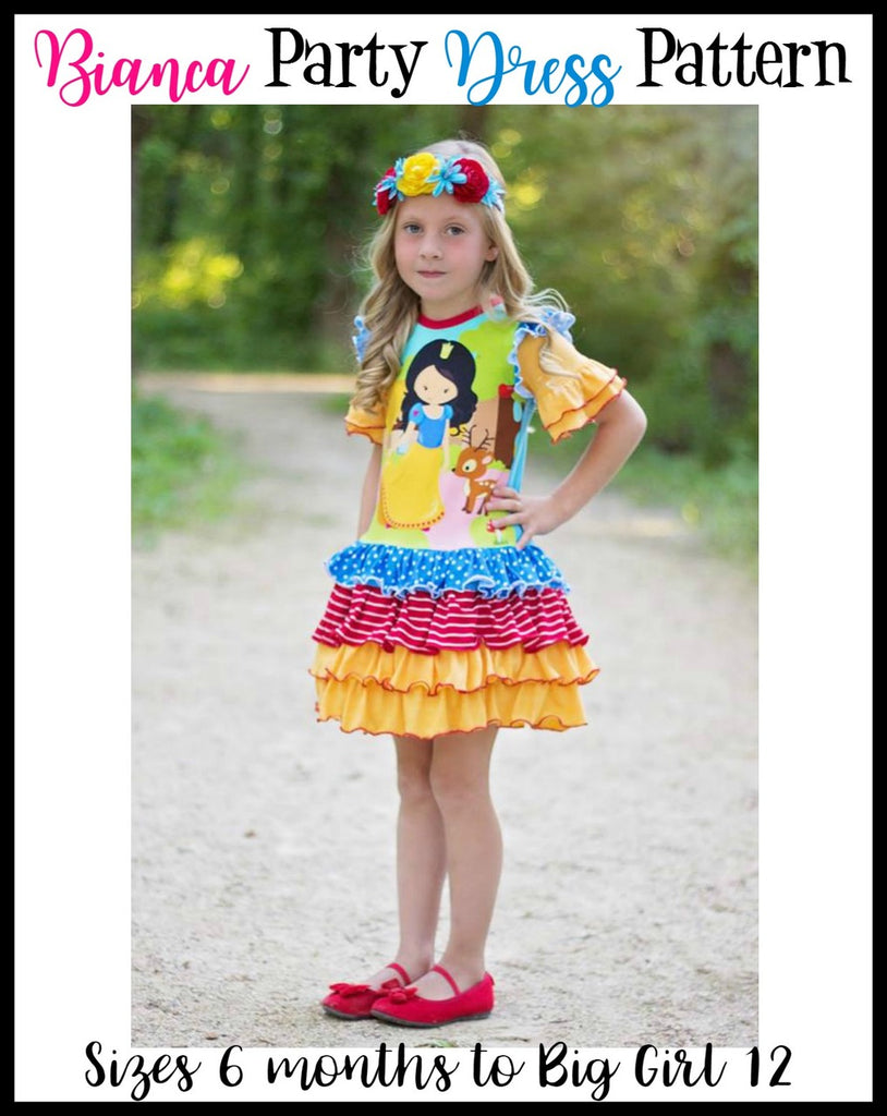 Bianca Ruffled Party Dress Pattern